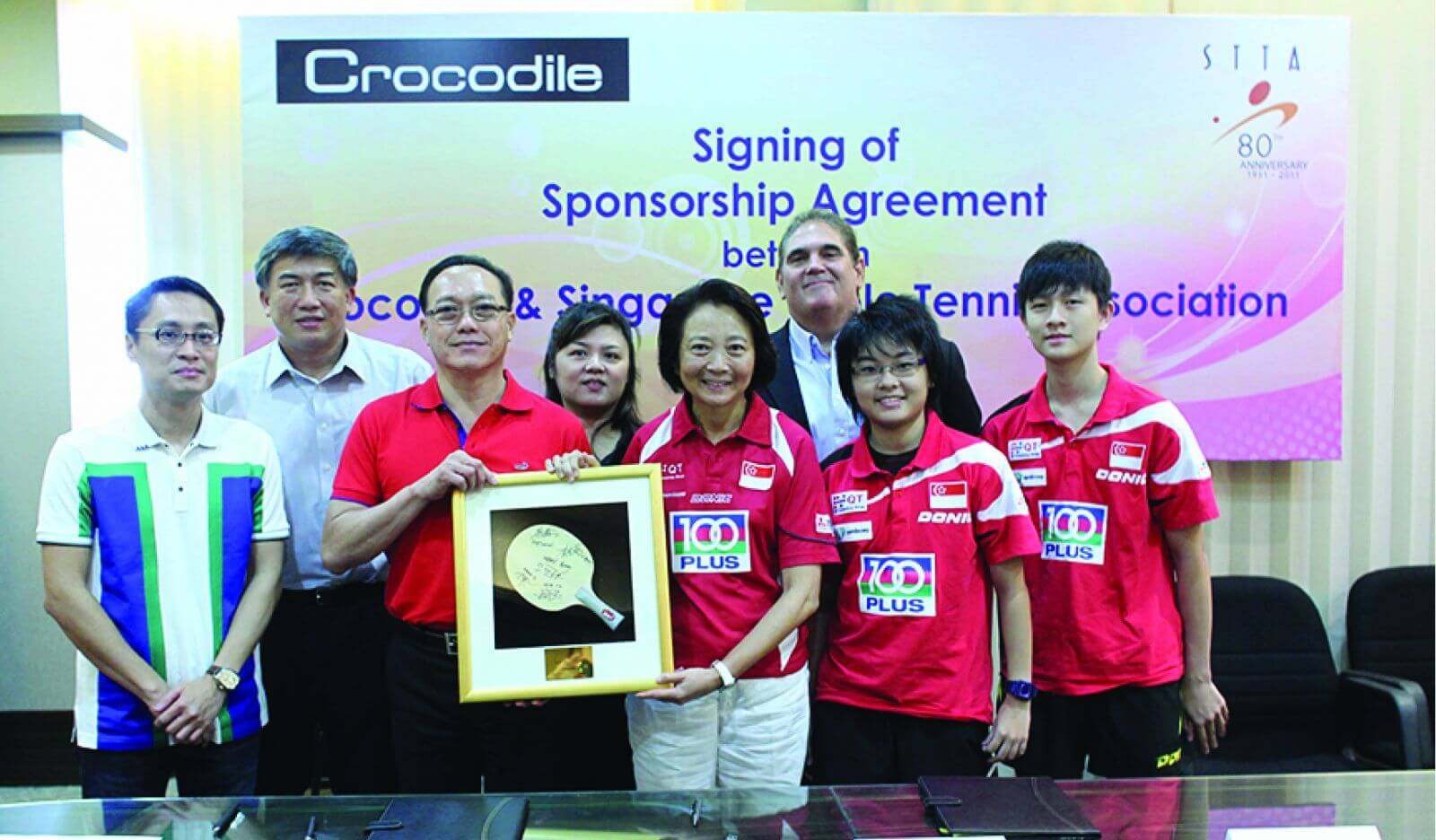 Sponsorship for Crocodile Challenge Cup for a 10-year deal – an annual table tennis tournament for primary school paddlers